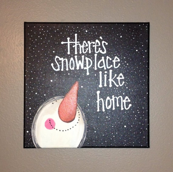 Snowman canvas for Easy christmas paintings on canvas