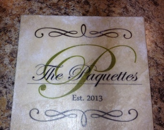 Personalized Family Name Tile