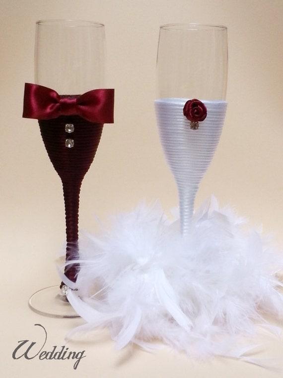 Articles Similaires A Coupes A Champagne De Mariage Decoration De Mariage Fait Main Flute