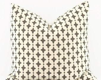 Gray Pillow, 16x16 Pillow Cover, Decorative Pillow, Throw Pillow Covers, Cushion Cover, Modern Decor,  Aggie Steel