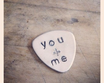 You + Me Guitar Pick