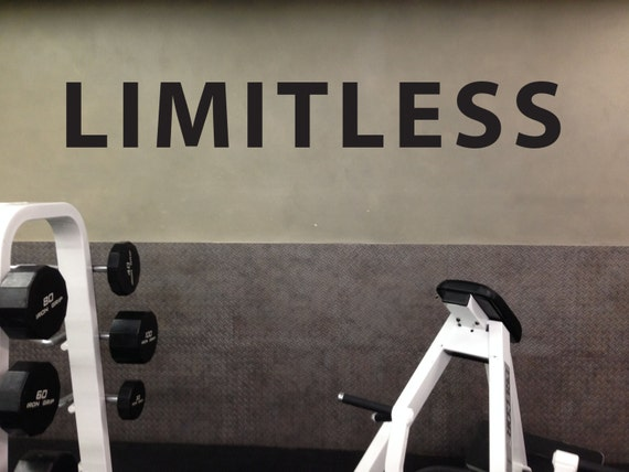 Inspirational quote home fitness gym limitless