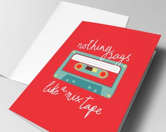 Mix Tape - Greeting Card - Free UK Delivery