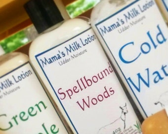 Goat Milk Lotion, Spellbound Woods, Homemade Lotion
