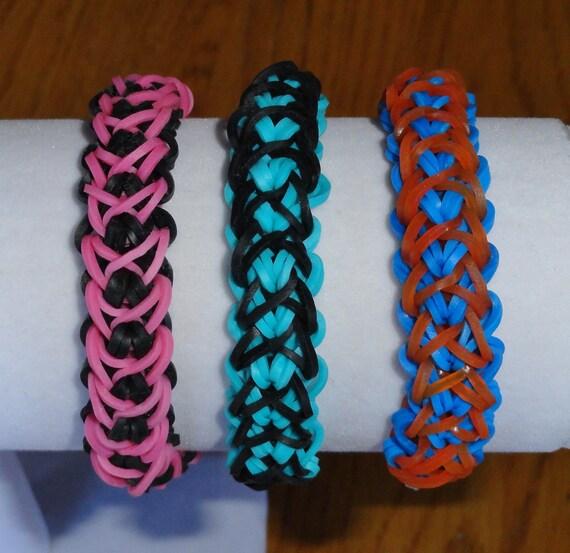 rainbow loom double x stretch bracelet sgadx by