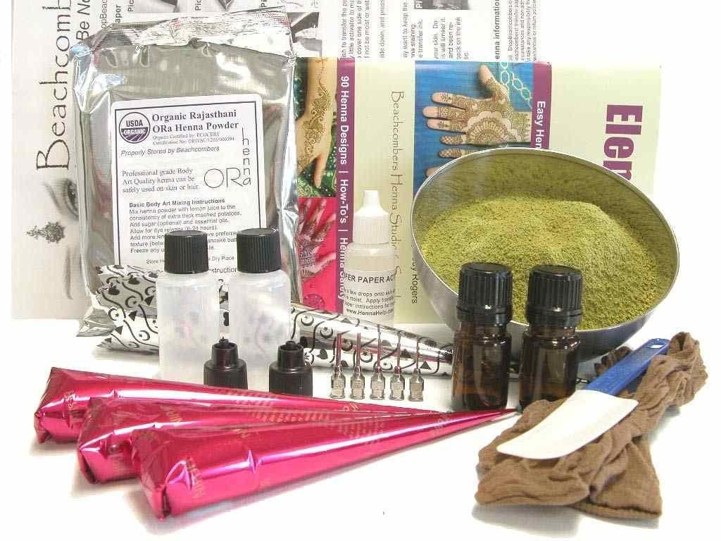 Ultimate big bad beginners henna tattoo kit powder paste for Henna tattoo kits target