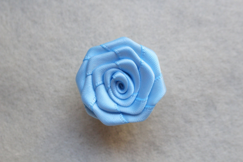 Light Blue flower lapel pin