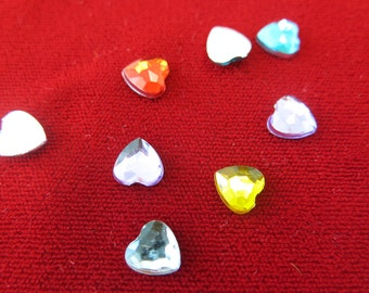 "30pc mixed ""Heart"" embellishments 8mm (JC36)"