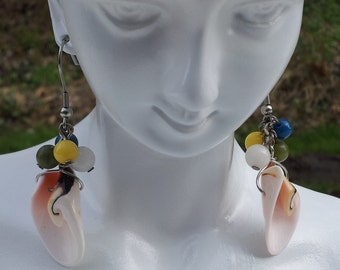 Handmade shell earrings  #00E14