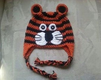 Tiger Ear-Flap Beanie