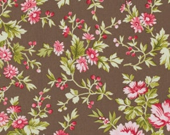 Clearance PIROUETTE By VERNA MOSQUERA 1 Yard Subtle Blooms in Mocha by Free Spirit Fabric