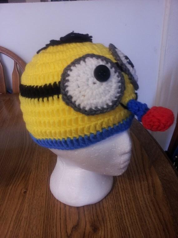 Knitting Pattern For Minion Beanie : minion crochet beanie
