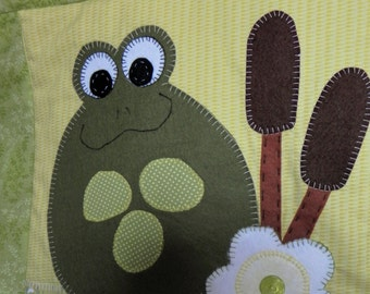 Frog pond nursery quilt & cushion