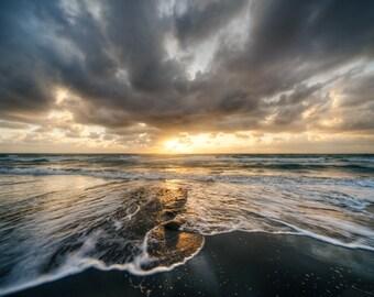 Salt Life - A Moody Sunrise Over Boynton Beach in South Florida - Fine Art Beach Landscape Photograph