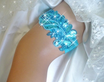 Something Blue Turquoise Wedding Garter Traditions Lingerie Bridal