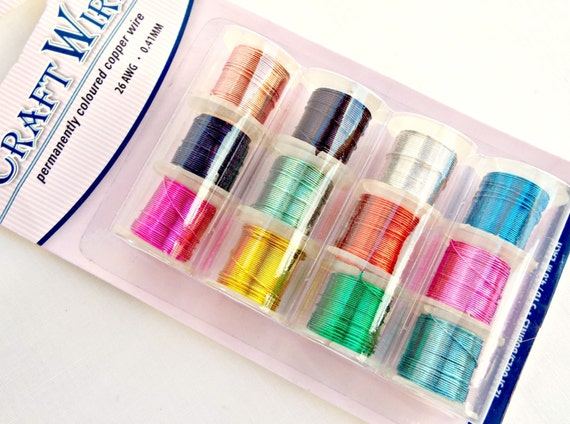 Copper Wire 12 Pack, 26 Gauge Craft Wire, Mixed Color Wire ...