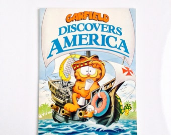 Vintage Garfield Discovers America Children's Book