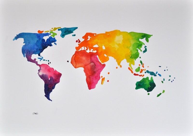 original abstract world map - photo #5