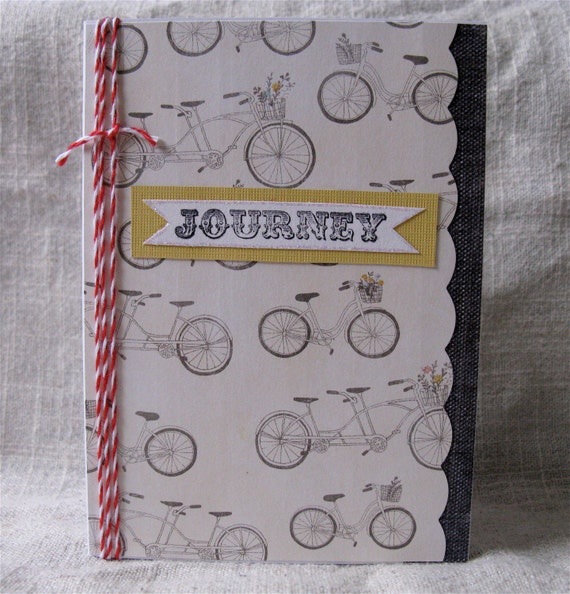 Bicycle journey handmade tandem bike card blank