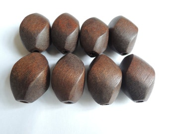 10 Pcs 30X20mm Brown Natural  Twisted Wood Bead   ( W803)
