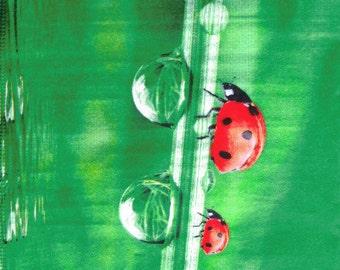 Paper napkin for decoupage, Ladybugs