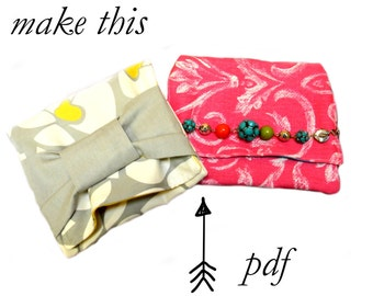 Cosmetic Bag PDF Sewing Pattern, Makeup Bag, Clutch sewing pattern, Purse Sewing Pattern, Easy, Simple, Quick