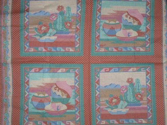 4 Southwestern Fabric Panels Cranston VIP Pillow Scarf
