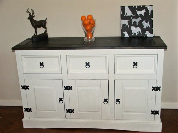 Sold Mexican Pine Sideboard Painted Shabby By Cecilyshumblehome