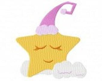 Sleeping Star Machine Embroidery Design