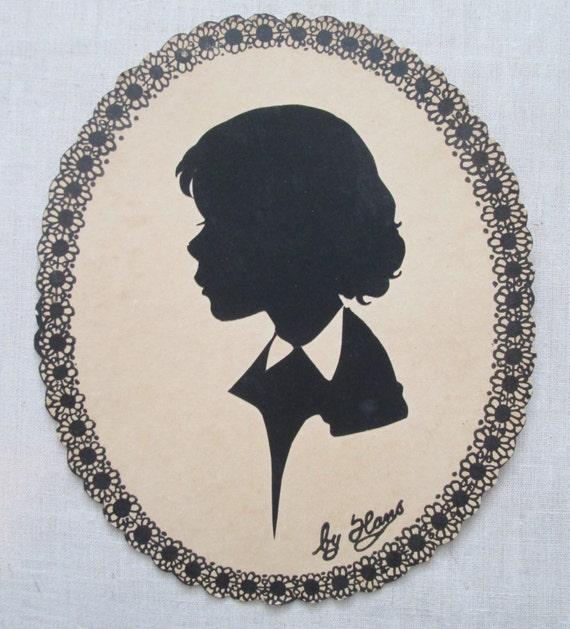 Vintage silhouette portrait