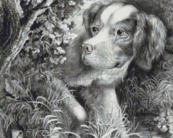 Dog Hunting PDF Cross Stitch Pattern
