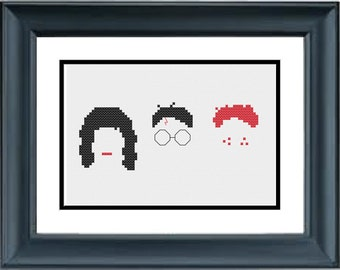 Harry Potter, Hermione and Ron - Silhouette - PDF Cross-Stitch Pattern