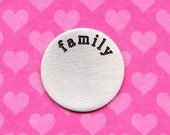 large family plate for 30mm glass locket pendant