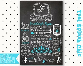 Shabby Chic Birthday - Shabby Chic Decor - First Birthday Chalkboard - Shabby Chic - Shabby Chic Birthday Decorations - Shabby Chic Party