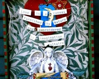 Voltiaires Love Shrine  Art Assemblage
