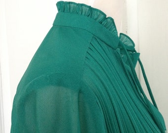 80s Green and White Dress, Think Jane Fonda in 9 to 5