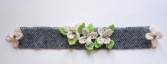 Peyote Bracelet ,Brick Bracelet ,Seed Bead Bracelet , Flower Bracelet, Pearl Bracelet