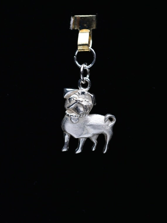 sterling silver pug charm by donna pizarro by