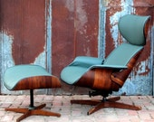 George Mulhauser Mr Chair Lounge & Ottoman by Plycraft 50's 60's Walnut Retro Atomic Mid Century Modern