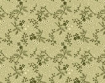 Romantic Renaissance - Green Allover - 1/2yd