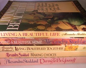 5 Alexandra Stoddard Books vintage paperbacks
