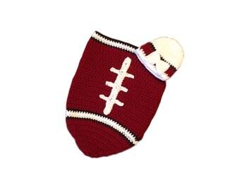 Arizona Fan Favorite Baby Girl Football Cocoon & Hat (Newborn to 3 Months)
