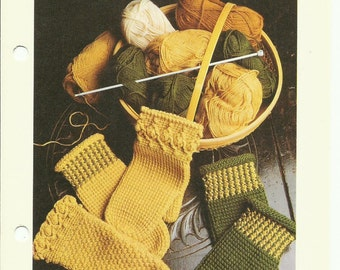 Afghan / Tunisian Crochet mittens pattern digital pattern download