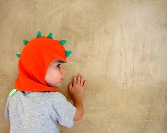 Dragon kids hat, dinosaur children and toddler fleece beanie. MADE TO ORDER