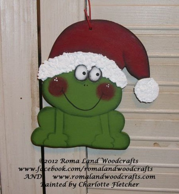 PATTERN for Christmas Frog Ornament