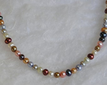 Multicolor Freshwater Pearl Necklace 17 inch,