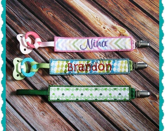 In The Hoop Pacifier Clip Embroidery Design- INSTANT DOWNLOAD