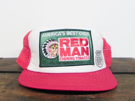 Vintage 80 S Red Man Chewing Tobacco Trucker Hat Snapback