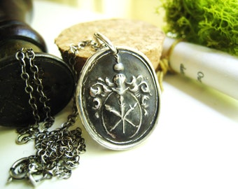 German Crest Wax Seal Necklace