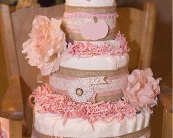 Girl Diaper Cakes